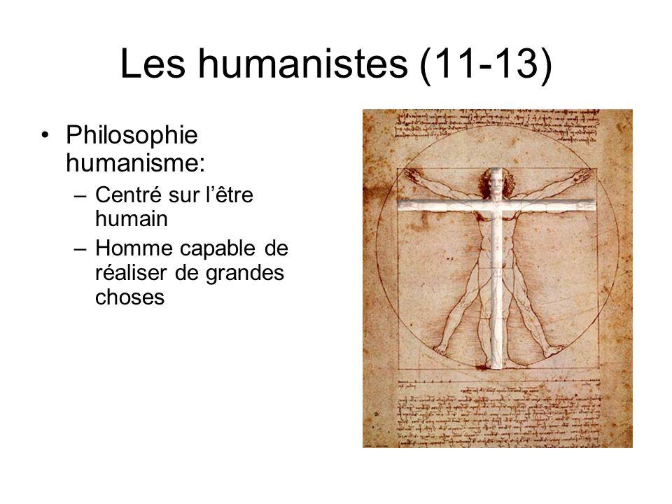 Les humanistes (11-13) Philosophie humanisme: Centré sur l'être humain