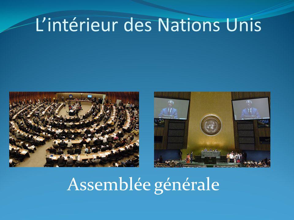 L'intérieur des Nations Unis