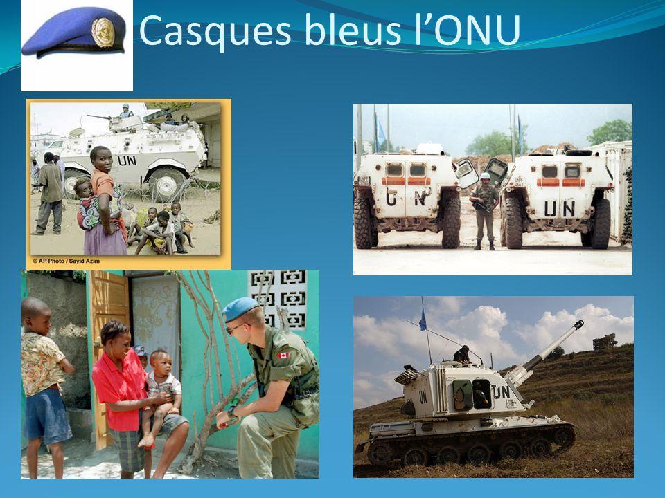 Casques bleus l'ONU