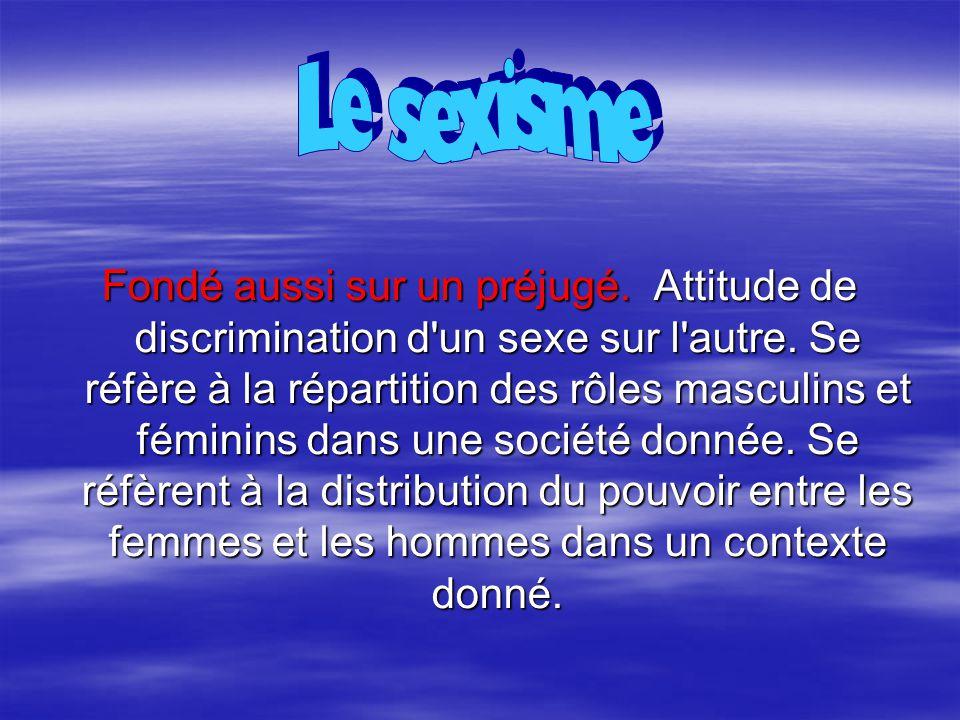 Le sexisme