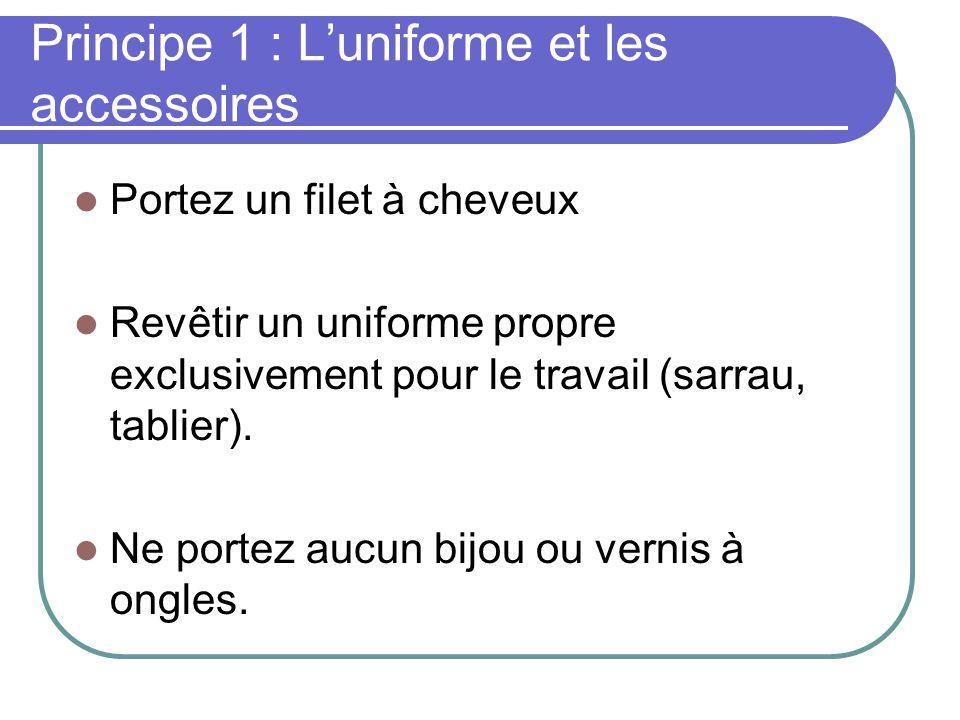 Principe 1 : L'uniforme et les accessoires