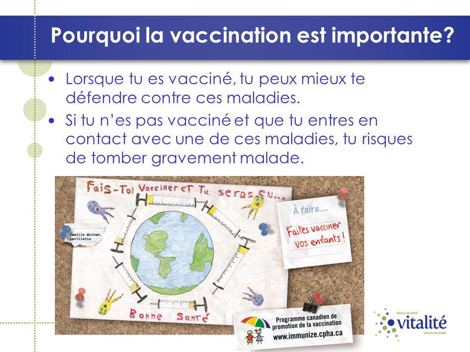 Pourquoi la vaccination est importante