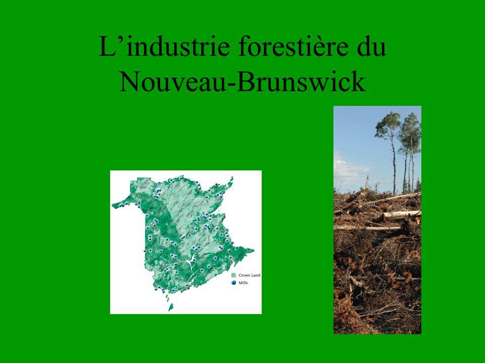 L'industrie forestière du Nouveau-Brunswick
