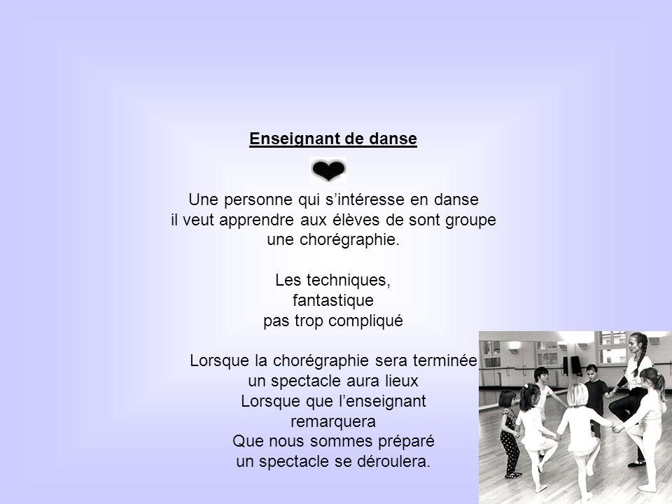 Une personne qui s'intéresse en danse