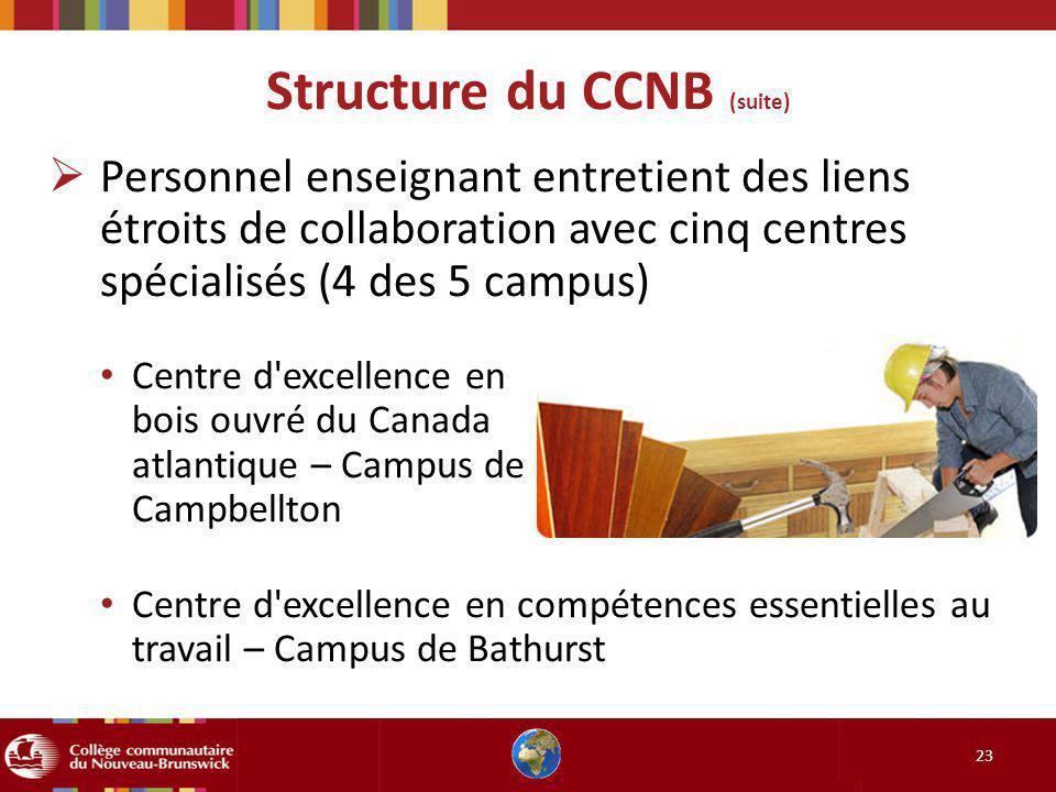 Structure du CCNB (suite)