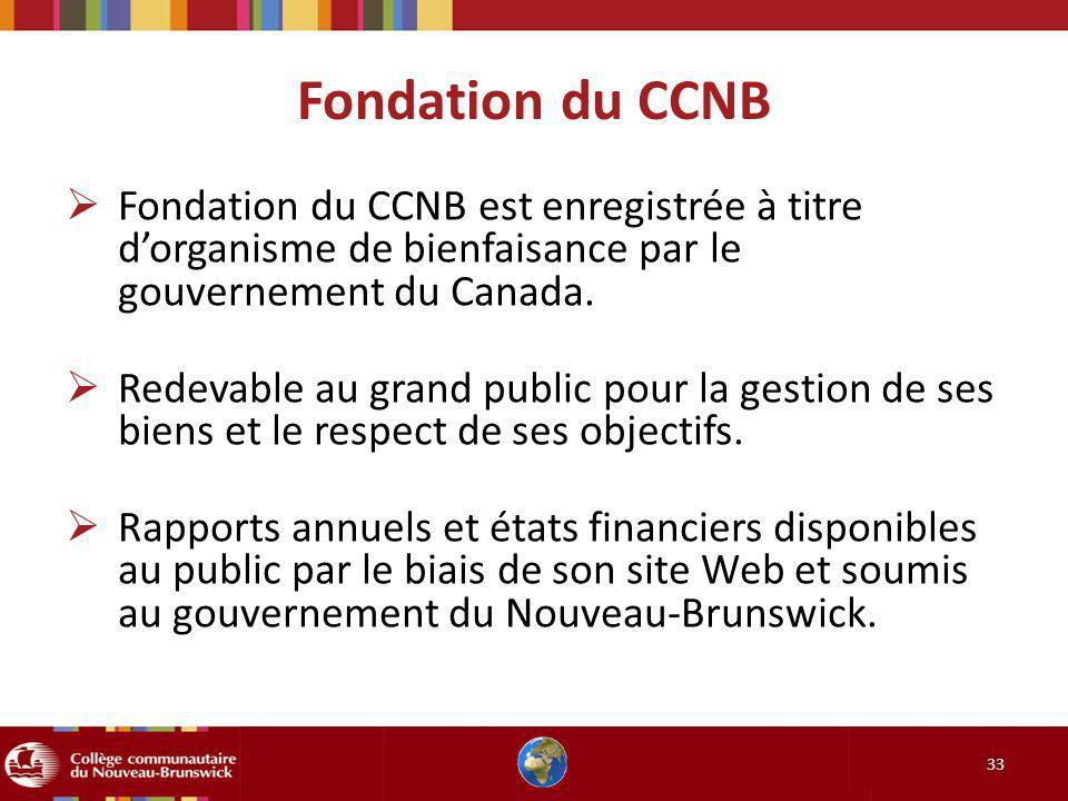 Fondation du CCNB Fondation du CCNB est enregistrée à titre d'organisme de bienfaisance par le gouvernement du Canada.