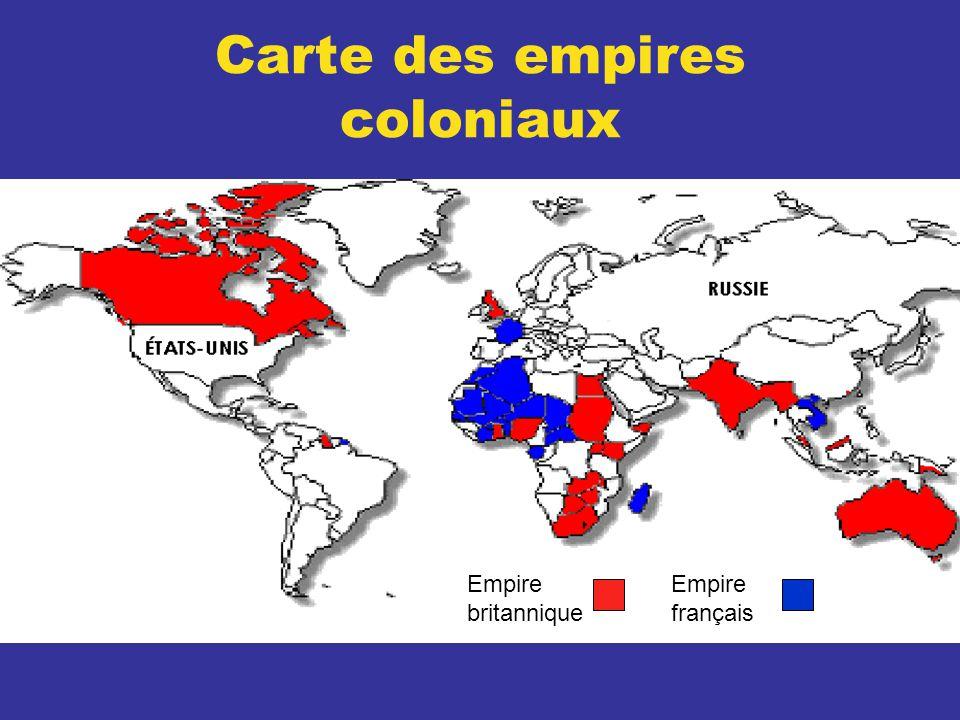 Carte des empires coloniaux