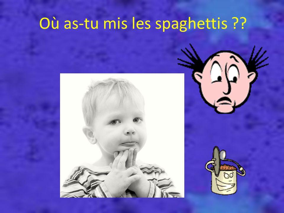 Où as-tu mis les spaghettis