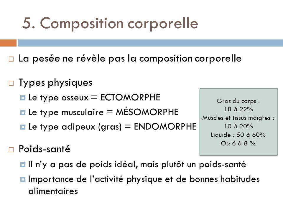 5. Composition corporelle