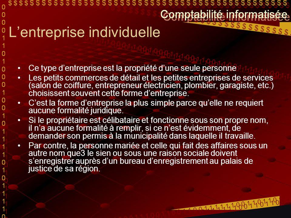 L'entreprise individuelle