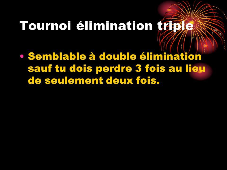 Tournoi élimination triple