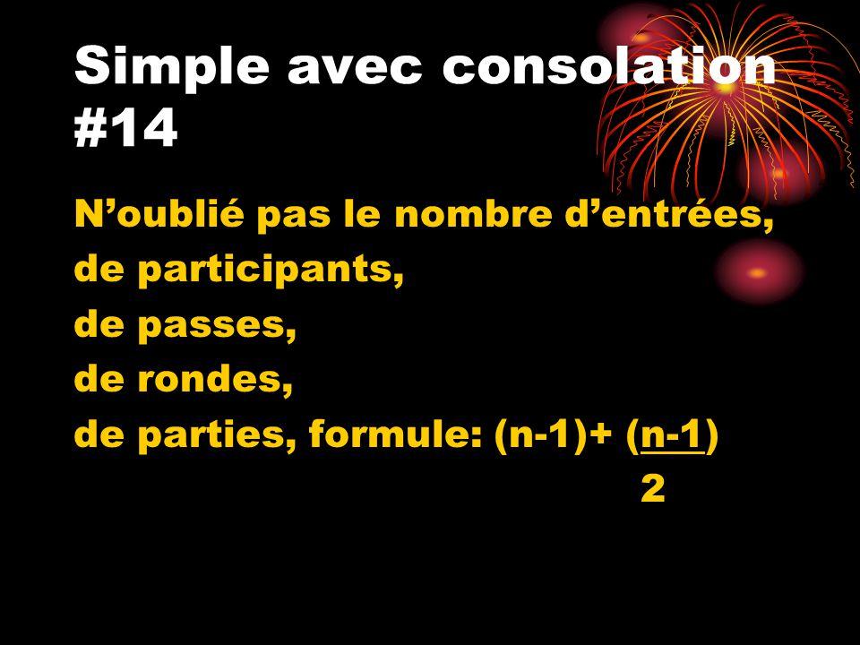 Simple avec consolation #14