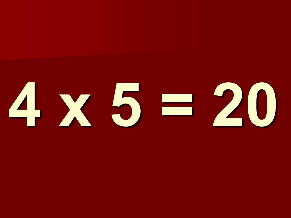 4 x 5 = 20 150