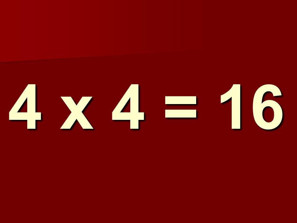 4 x 4 = 16 189
