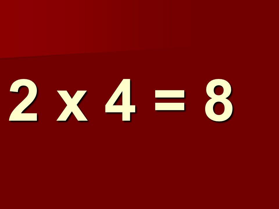 2 x 4 = 8 236