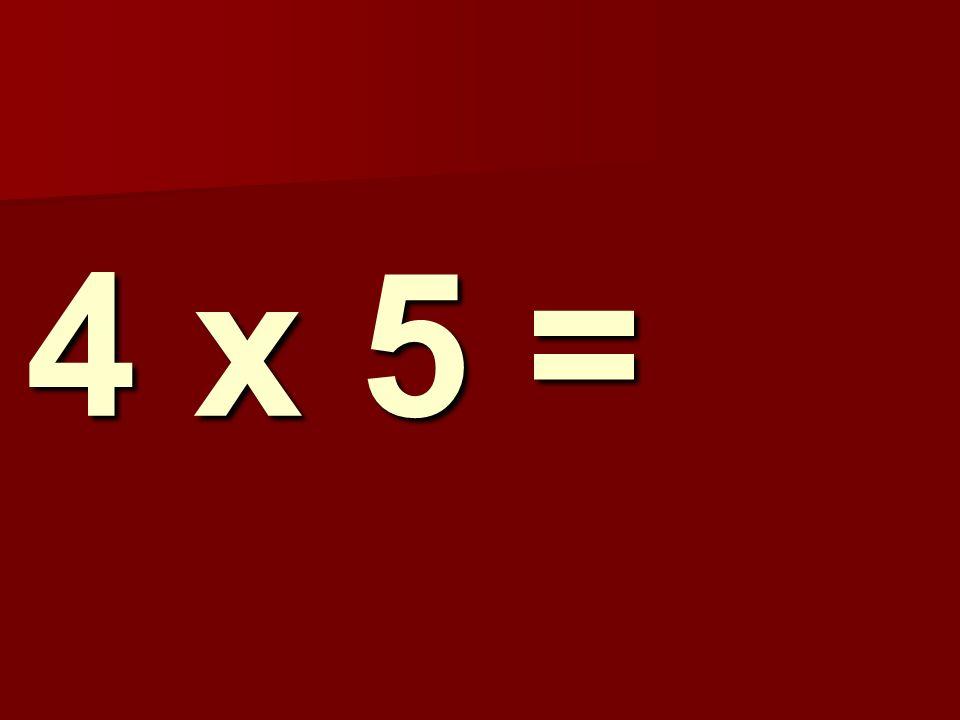 4 x 5 = 255