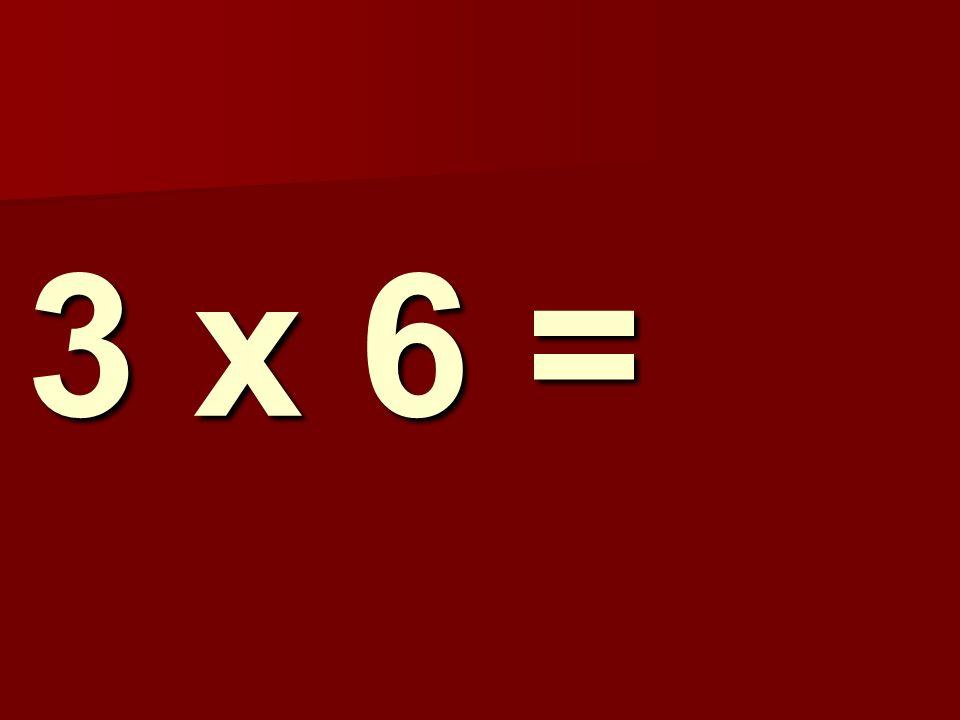 3 x 6 =