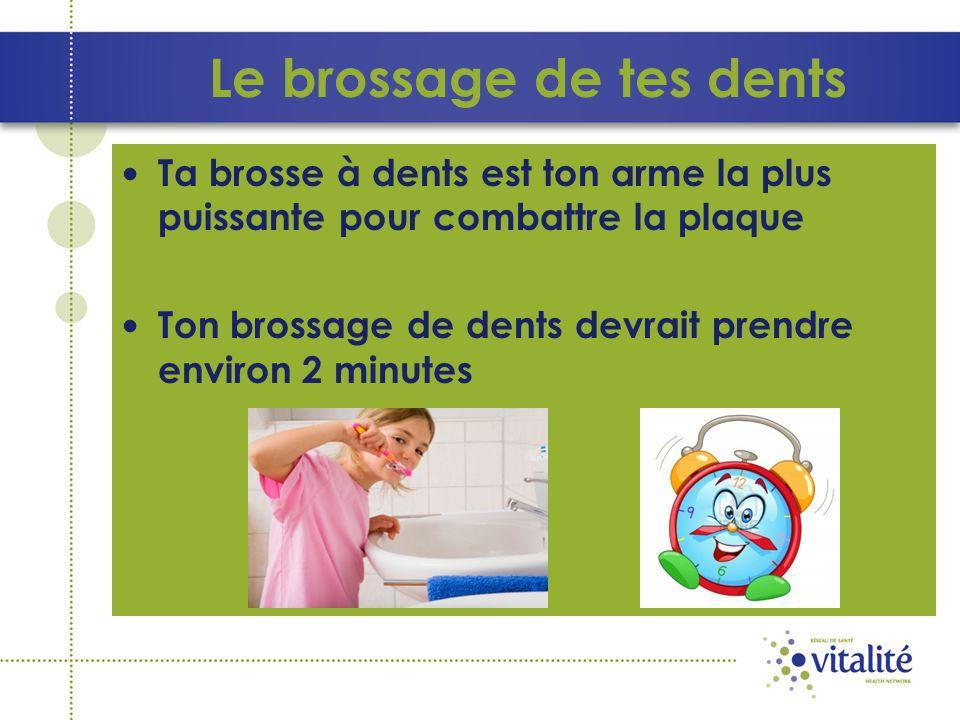 Le brossage de tes dents