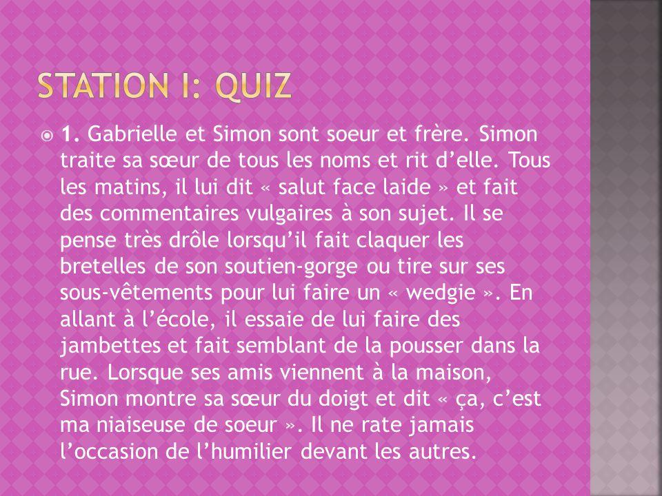 Station i: quiz