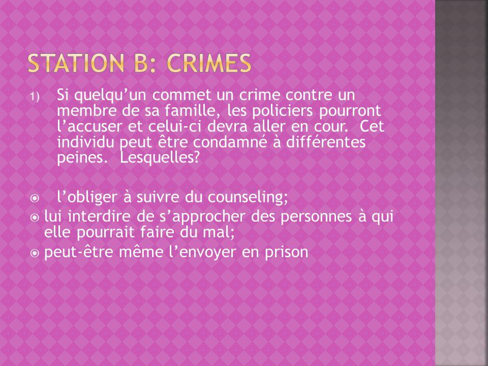 Station B: Crimes