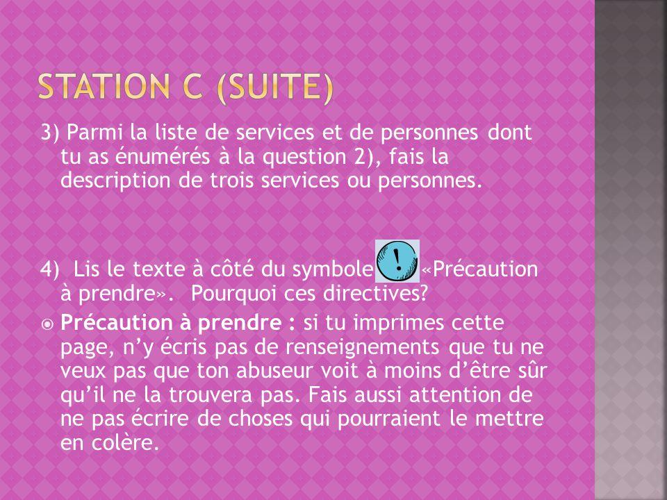 Station c (suite)