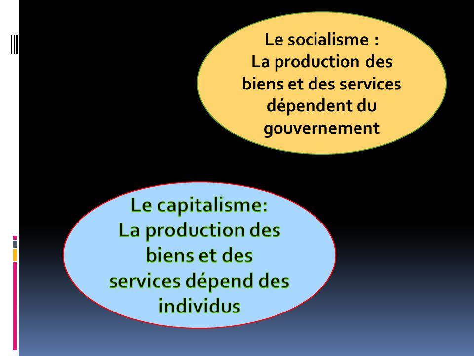 La production des biens et des services dépend des individus