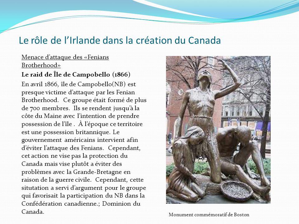 Le rôle de l'Irlande dans la création du Canada