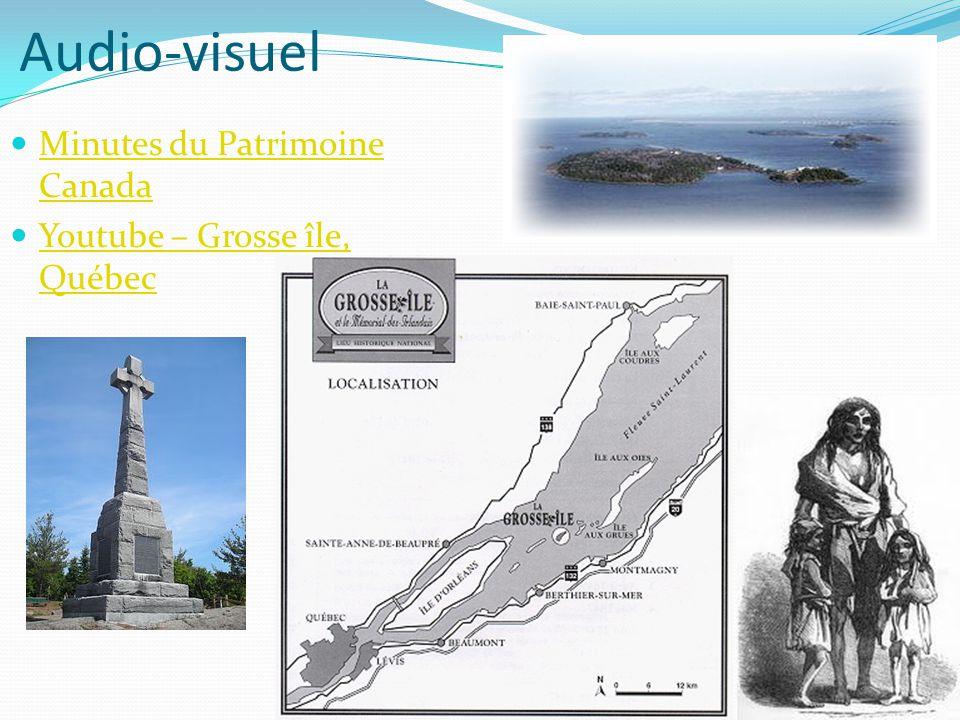 Audio-visuel Minutes du Patrimoine Canada Youtube – Grosse île, Québec