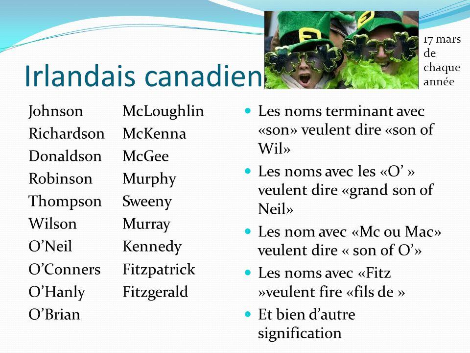 17 mars de chaque année Irlandais canadien.