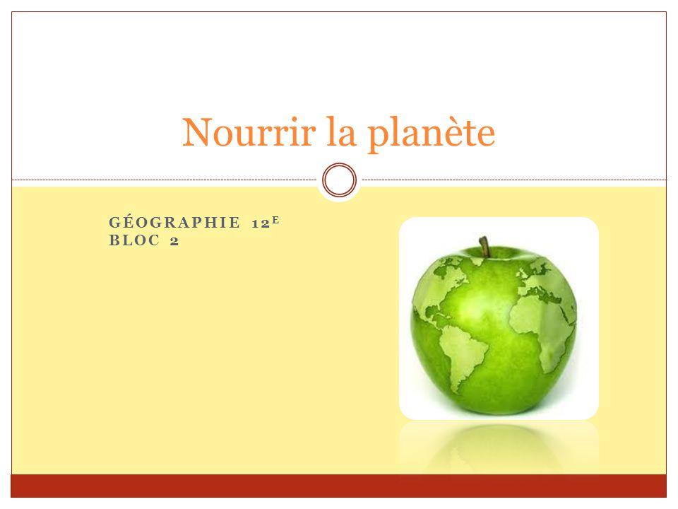 Nourrir la planète Géographie 12e Bloc 2