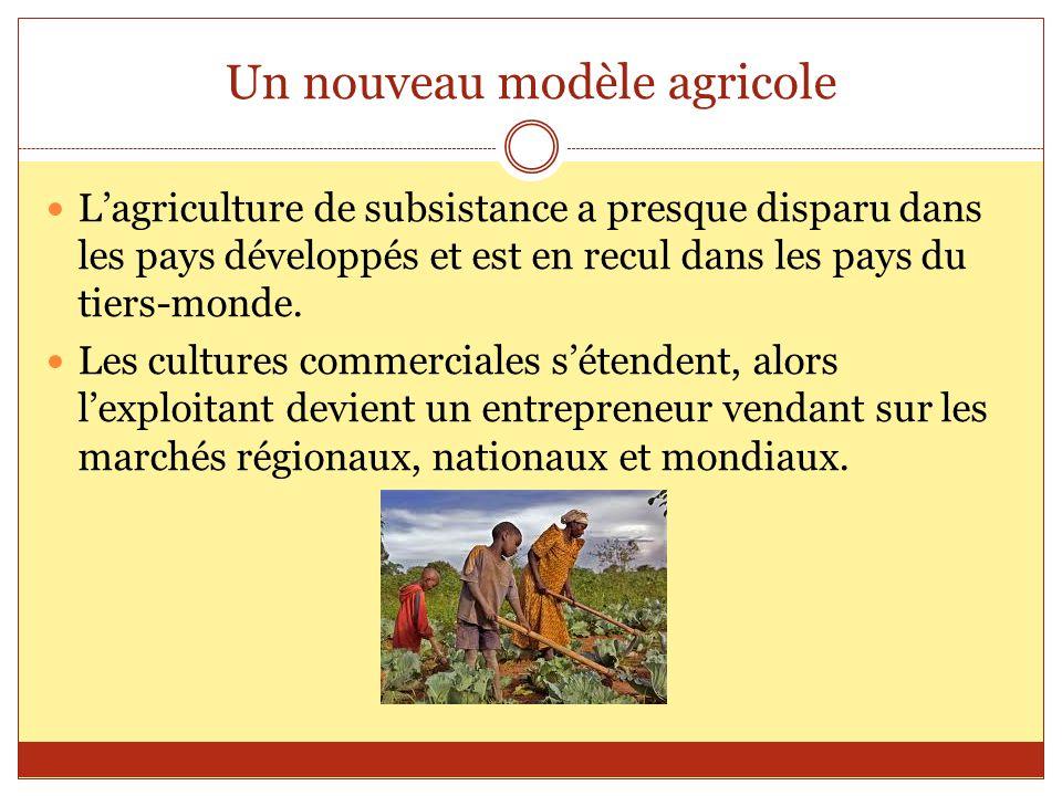 Un nouveau modèle agricole