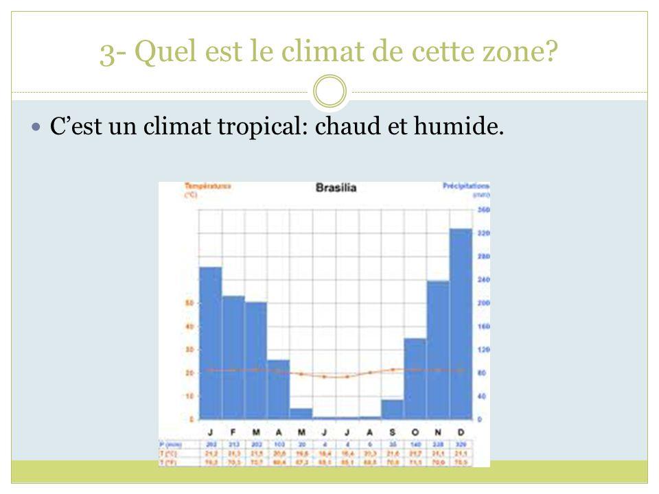 3- Quel est le climat de cette zone