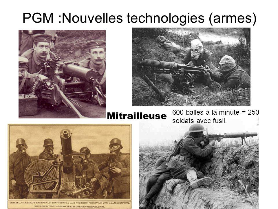 PGM :Nouvelles technologies (armes)