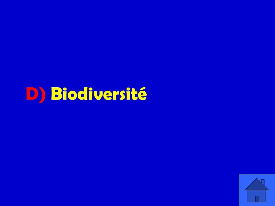 D) Biodiversité