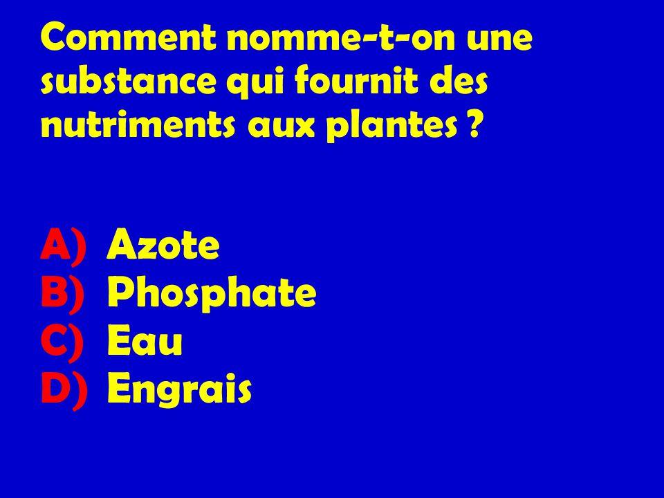 Comment nomme-t-on une substance qui fournit des nutriments aux plantes