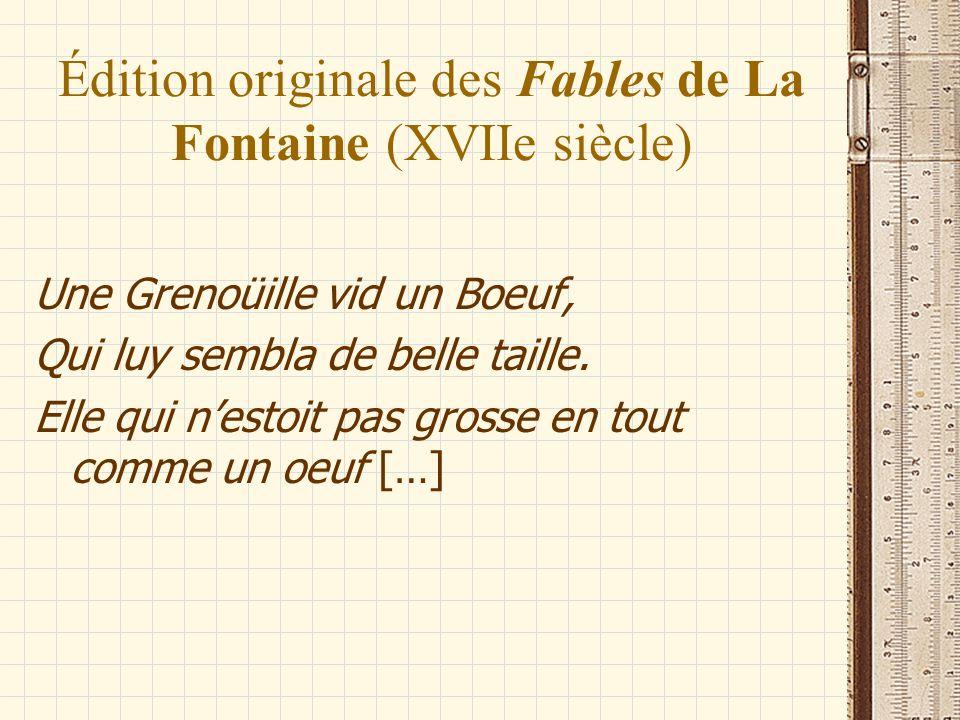 Édition originale des Fables de La Fontaine (XVIIe siècle)
