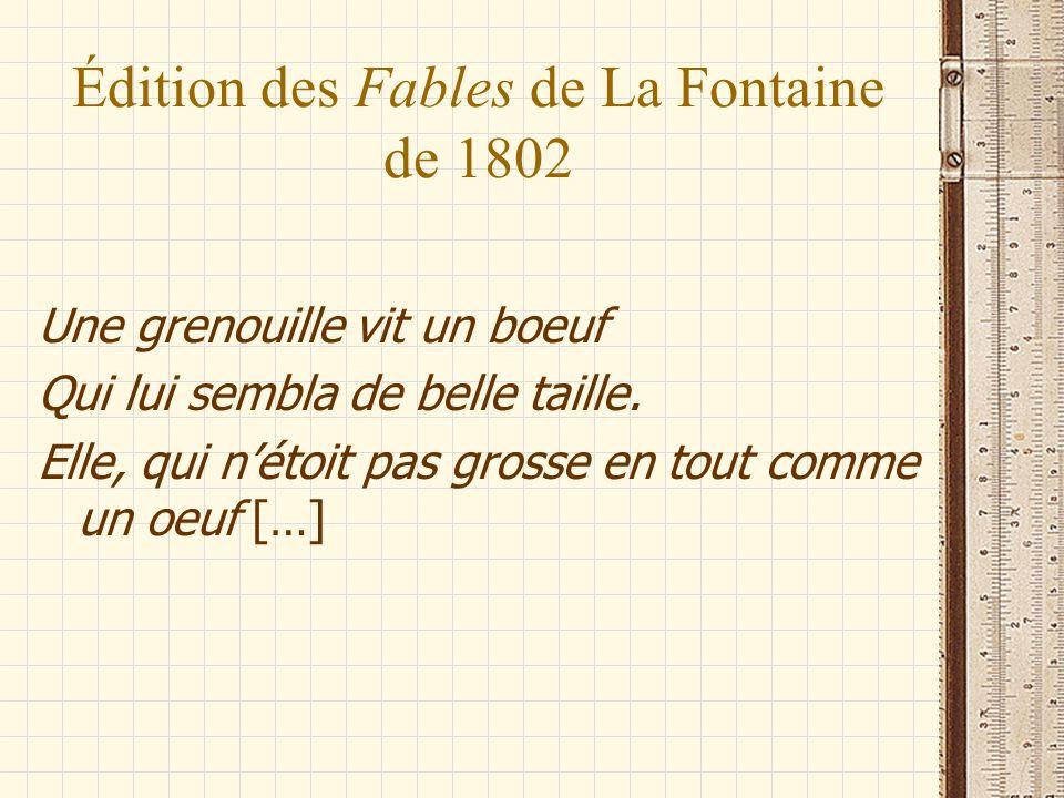 Édition des Fables de La Fontaine de 1802