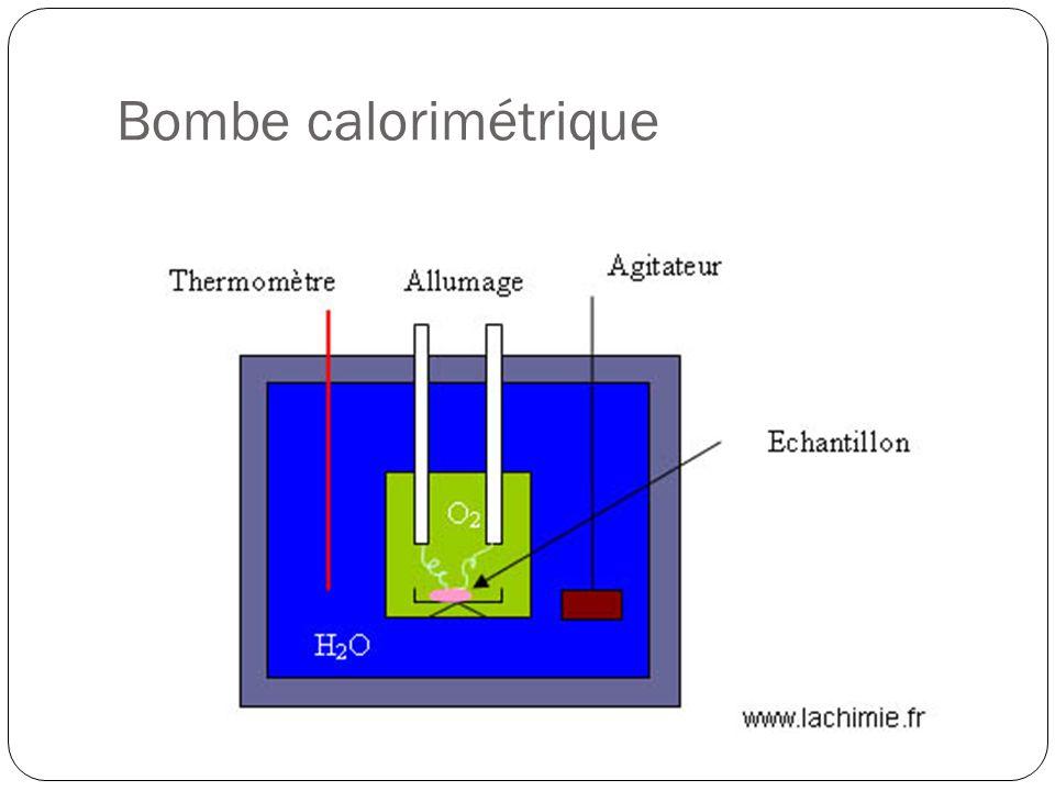 Bombe calorimétrique