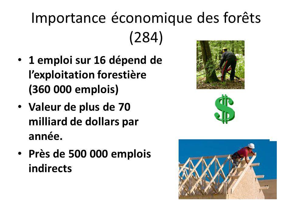 Importance économique des forêts (284)