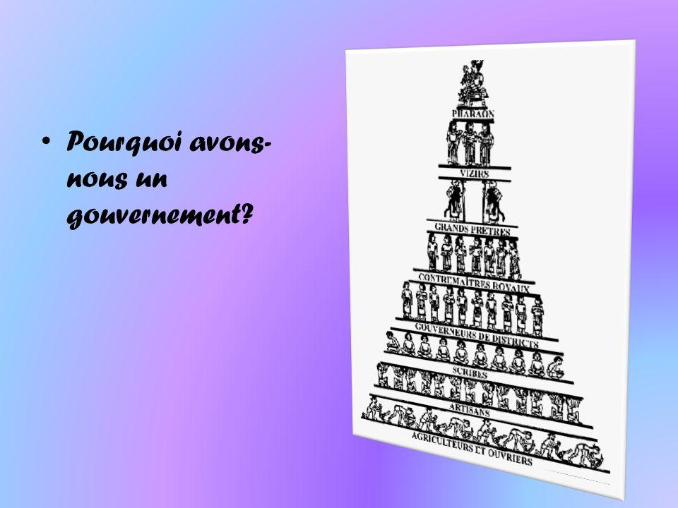 Pourquoi avons-nous un gouvernement