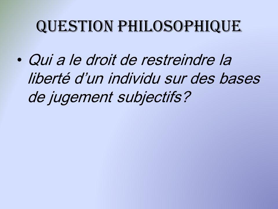 Question philosophique