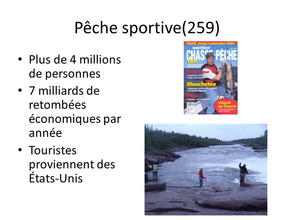 Pêche sportive(259) Plus de 4 millions de personnes