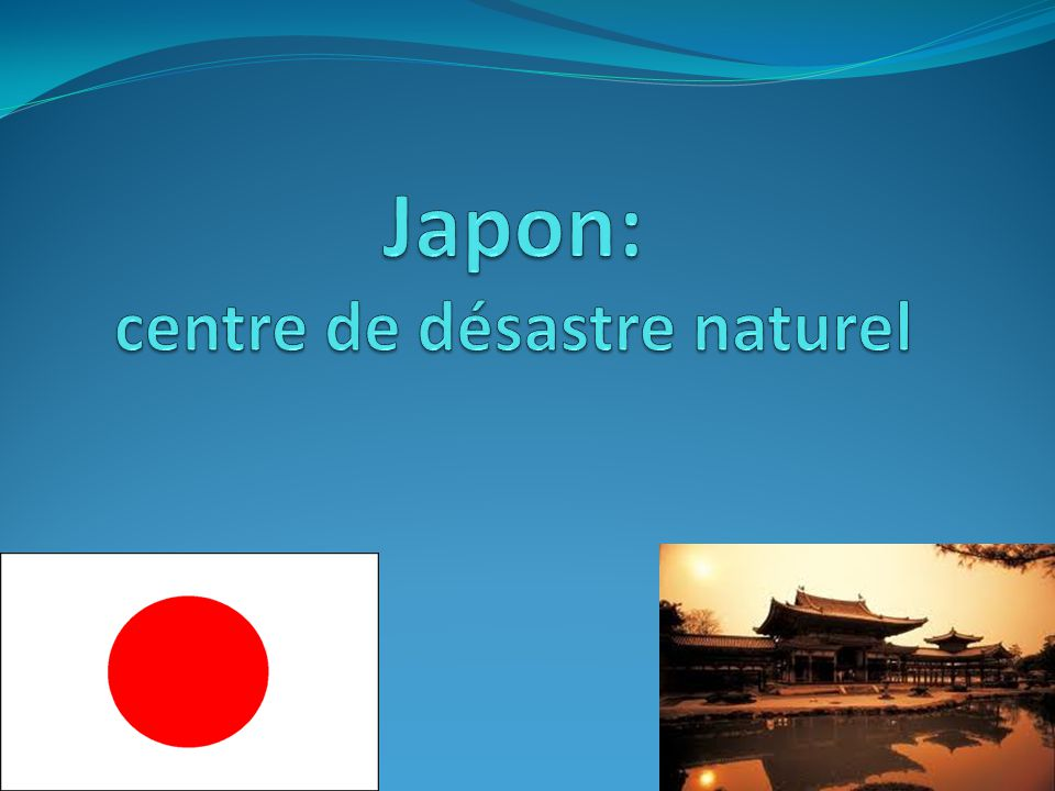 Japon: centre de désastre naturel