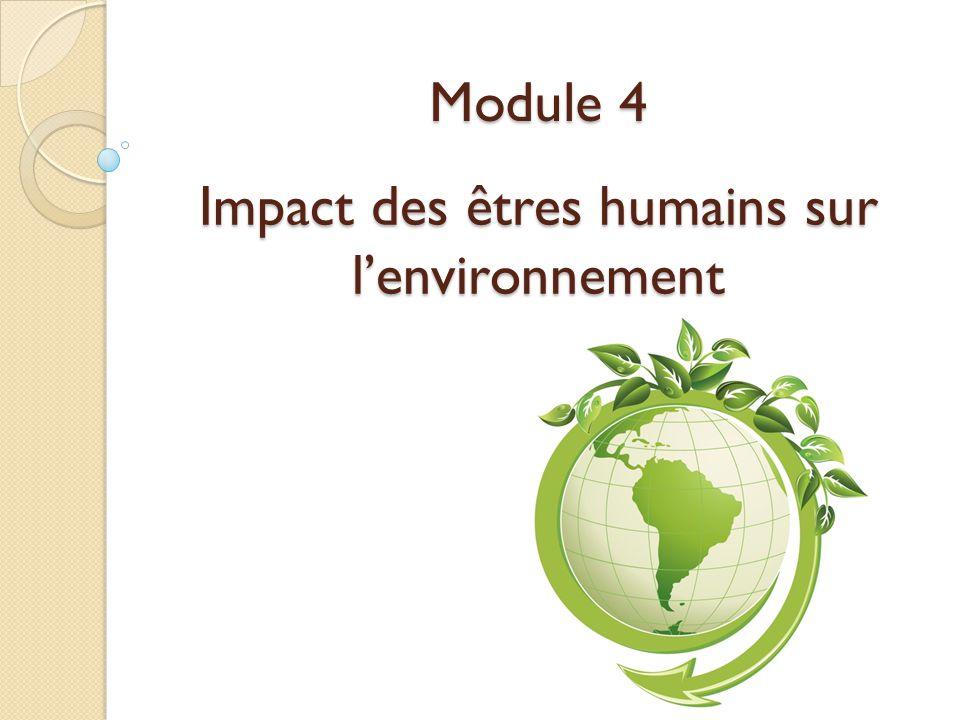 Impact des êtres humains sur l'environnement