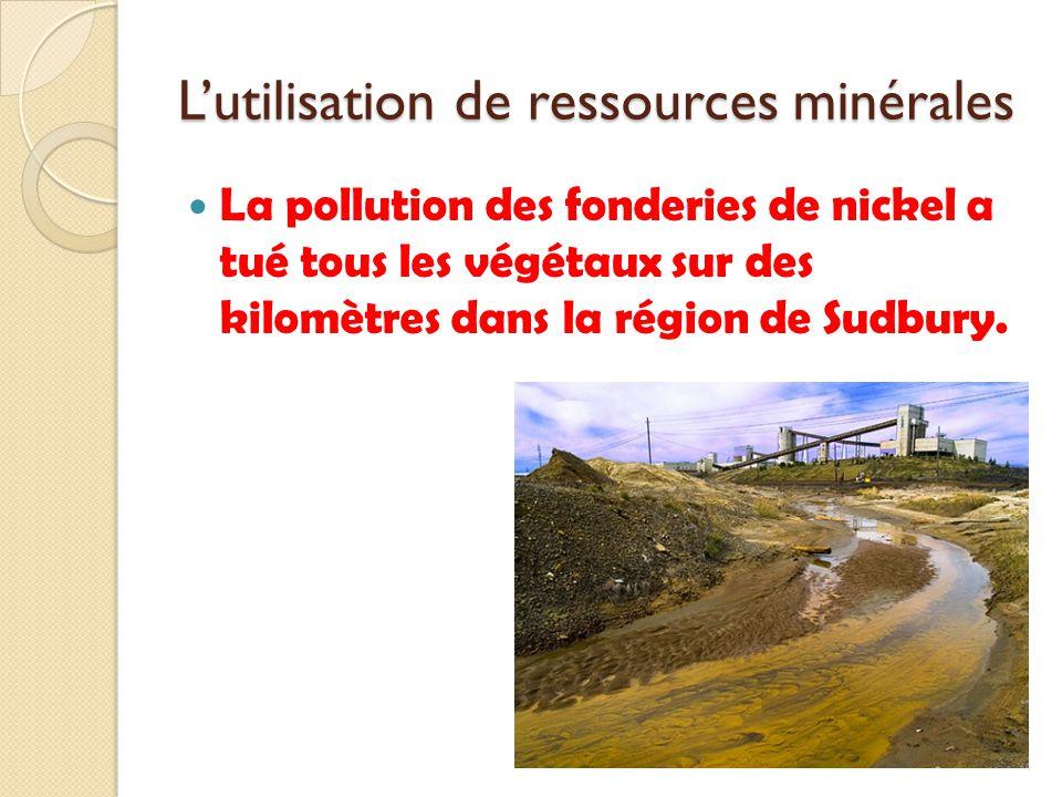 L'utilisation de ressources minérales