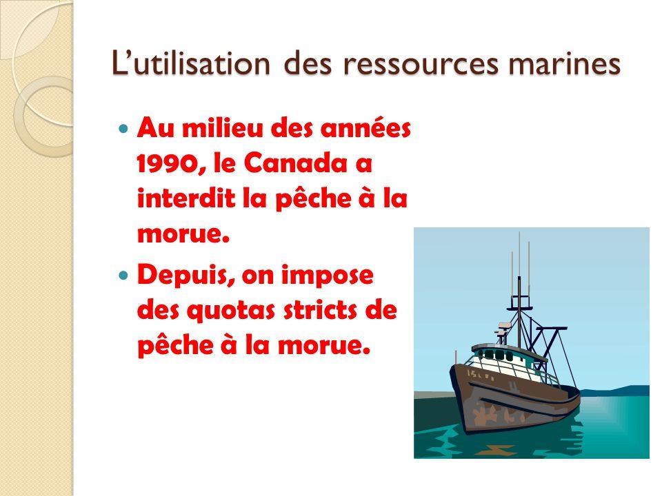 L'utilisation des ressources marines