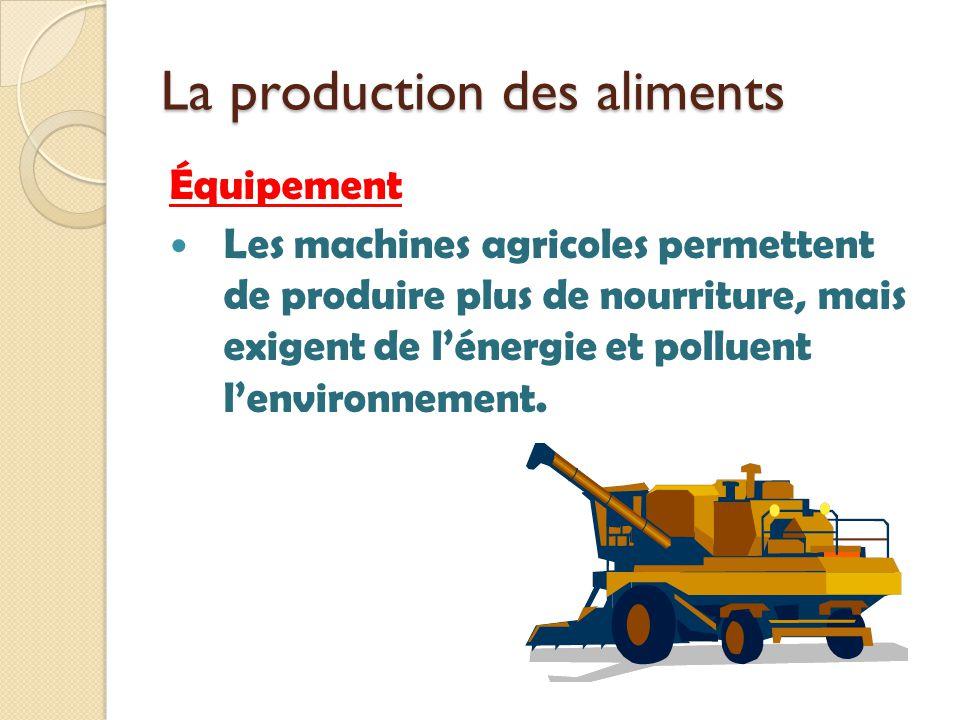 La production des aliments