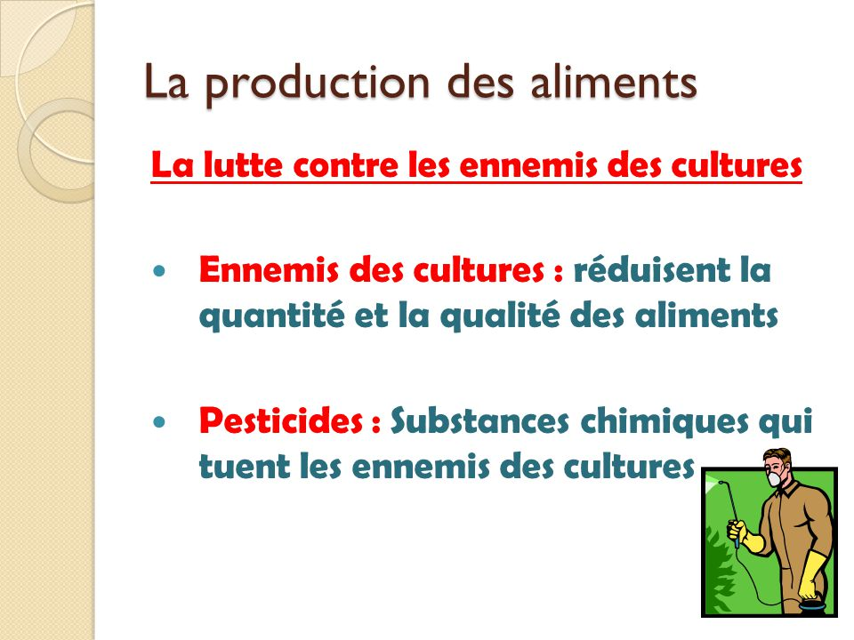 La production des aliments