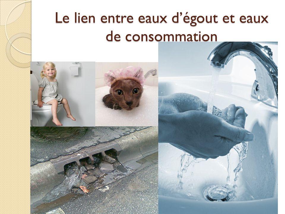 Le lien entre eaux d'égout et eaux de consommation