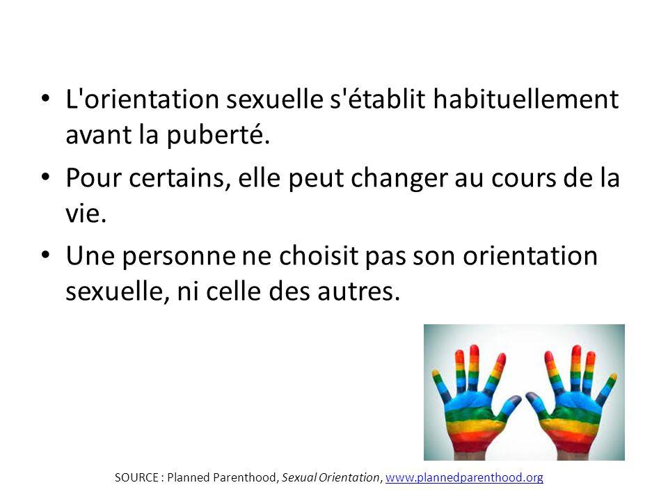 L orientation sexuelle s établit habituellement avant la puberté.